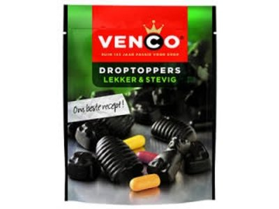 Venco Venco Hard Sweet Licorice Standup 9 oz Bag Lekker & Stevig 255g
