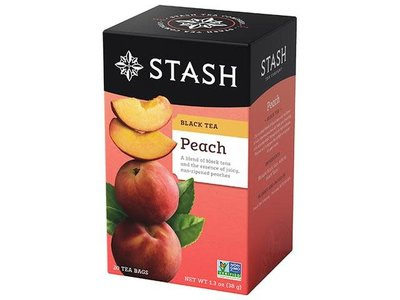 Stash Stash Peach Flavored Black Tea Box