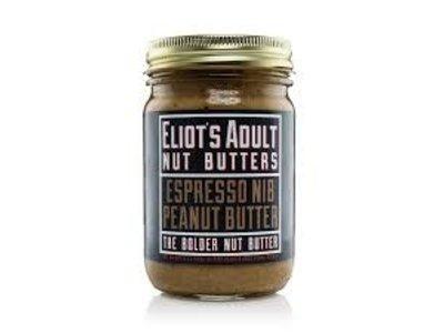 Eliots Spicy Espresso Nib Peanut Nut Butter 12 oz