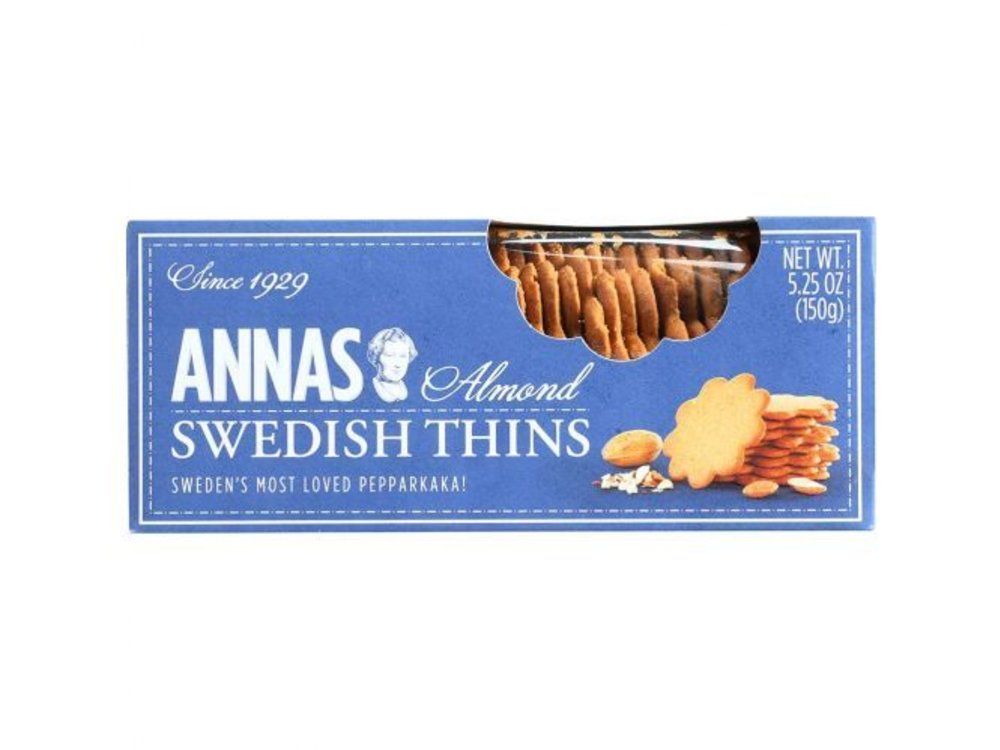 Annas Annas Almond Thins Thins 5.25oz Box 12/cs