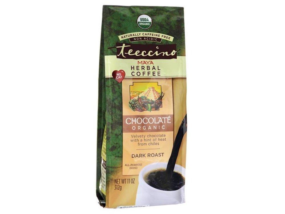 Teeccino Chocolate Dark Roast Org Chicory Herbal Coffee 11oz