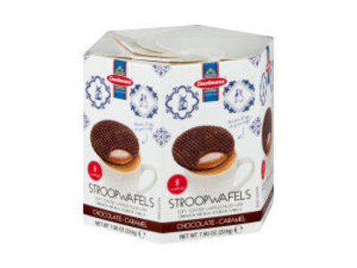 Daelmans Daelman Chocolate Caramel Syrupwafer Hex box 8.11 Oz Box