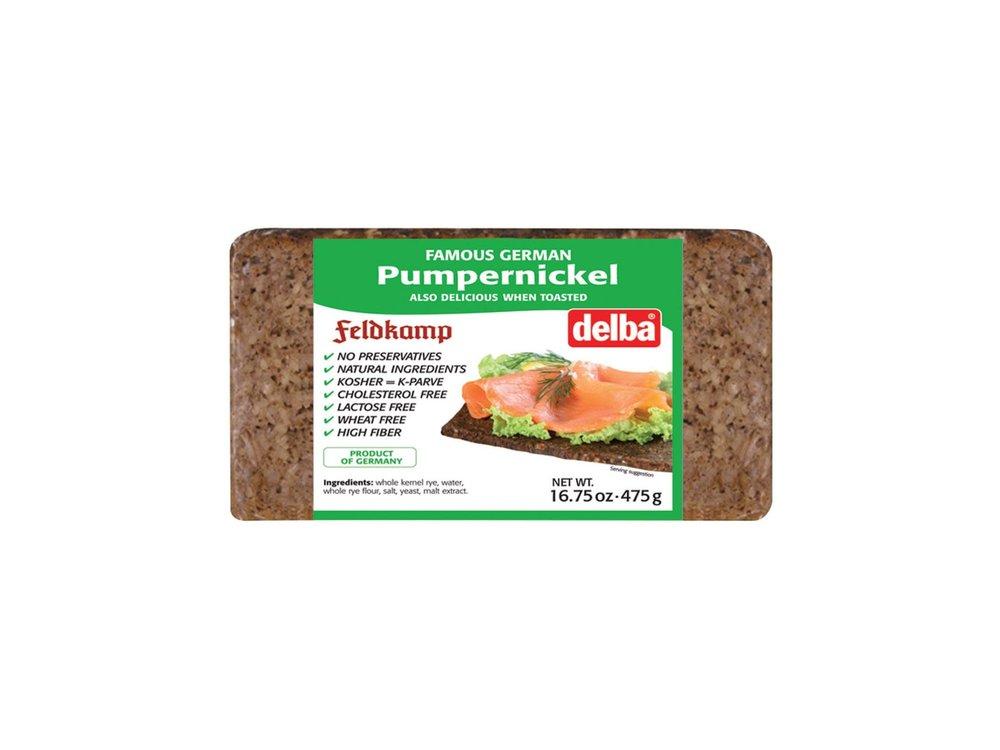Delba Delba Pumpernickel Bread 16oz 12/cs