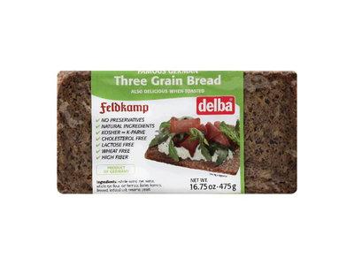 Feldkamp Delba Three Grain Bread 16oz 12/cs