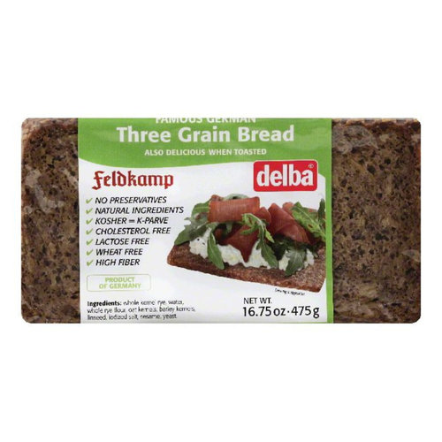 Delba Delba Three Grain Bread 16oz 12/cs