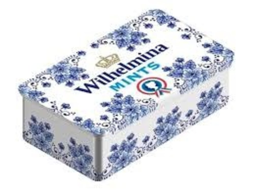 Wilhelmina Wilhelmina Mints Mini Delft Tin Slide Top  3.5 oz
