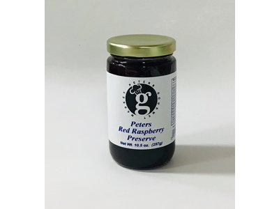 Peters Red Raspberry Preserves 10.5 oz