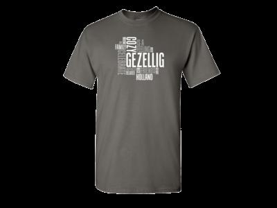 Gezellig T Shirt Charcoal Adult XLarge