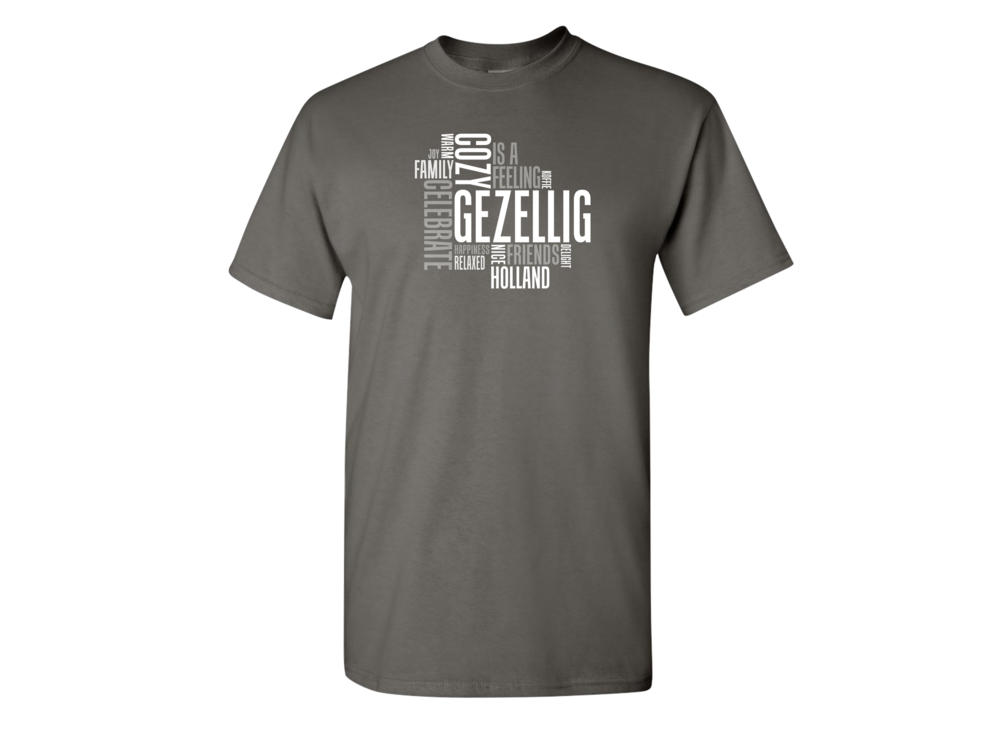 Gezellig T Shirt Charcoal Adult Large