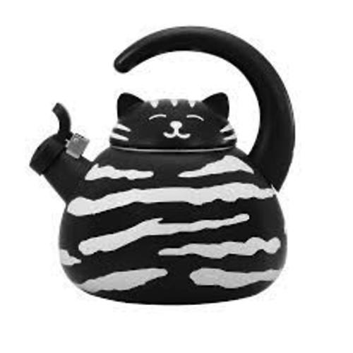 Supreme Black Cat Whistling Tea Kettle