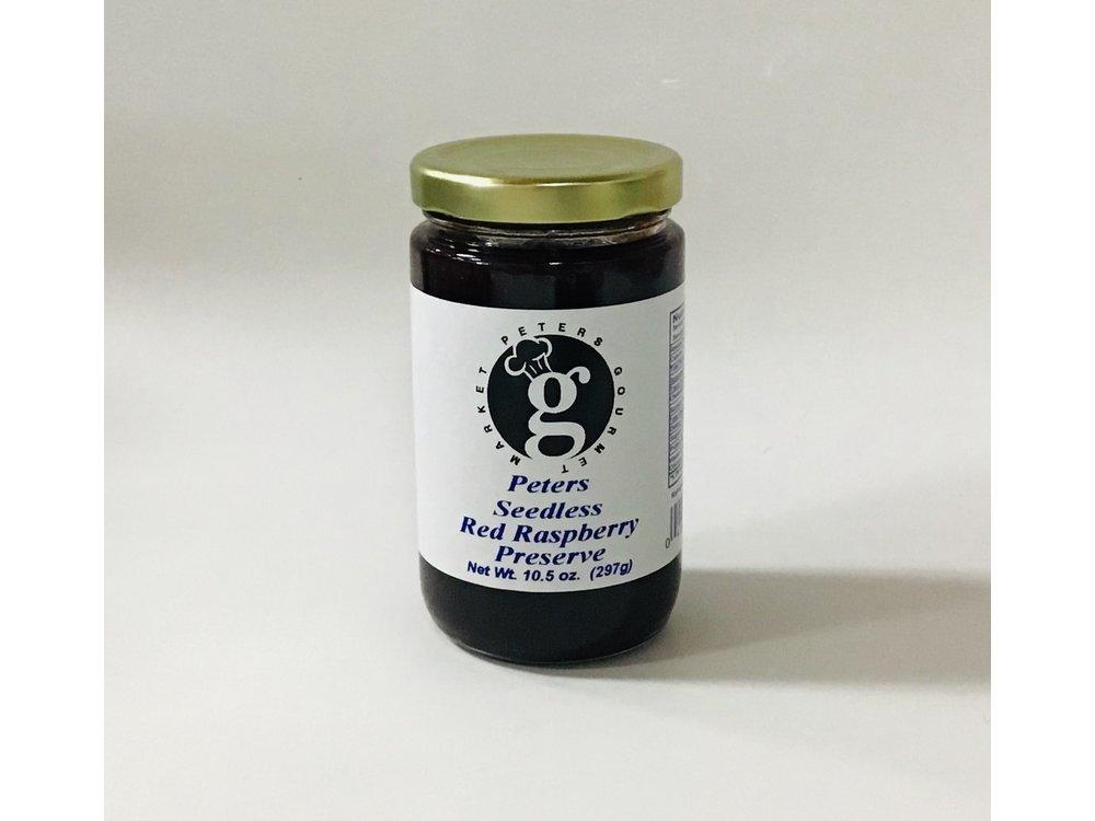 Peters Seedless Raspberry Preserve 10.5 oz