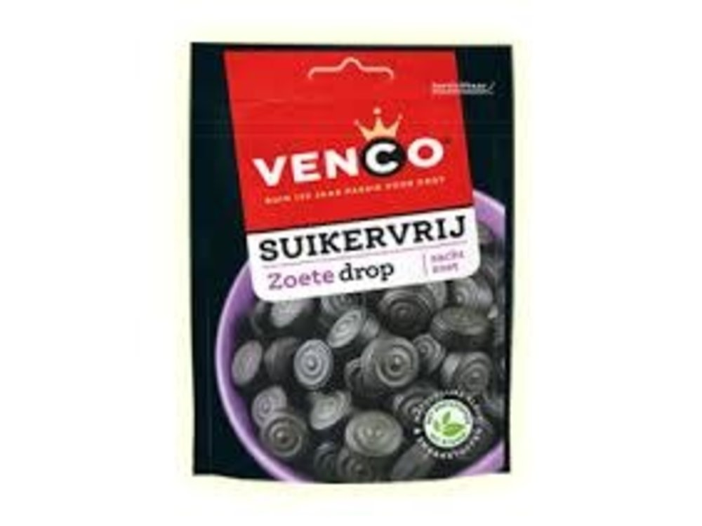 Venco Venco Sugar Free Sweet Licorice 3.5 Oz Bag