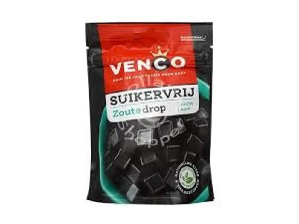 Venco Venco Sugar Free Salty Licorice 3.5 Oz Bag