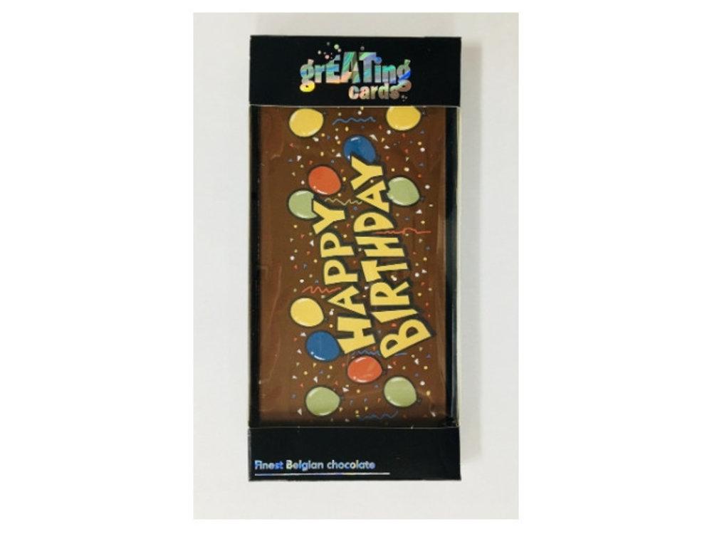 Happy Birthday Greeting Card Milk Chocolate Bar 3.5 oz