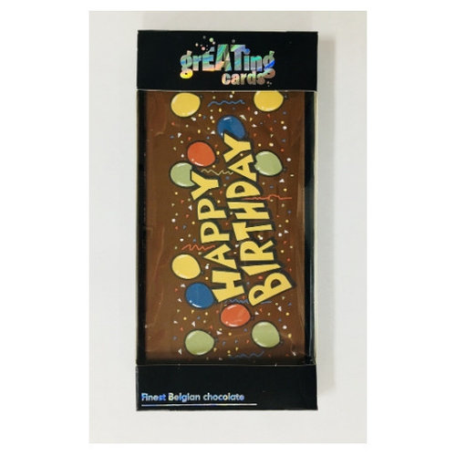 Happy Birthday Greeting Card Milk Chocolate Bar 3.5 oz