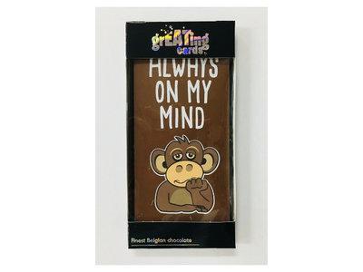 Always on my Mind Card Milk Choc Bar (dated Aug 2020)3.5 oz