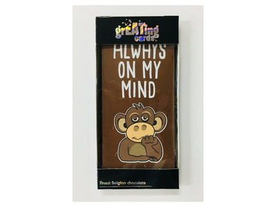 Always on my Mind Greeting Card Milk Chocolate Bar 3.5 oz