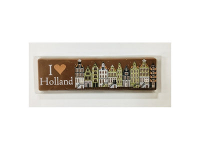 Dutch House Milk Chocolate Bar 2.6 oz I Love Holland