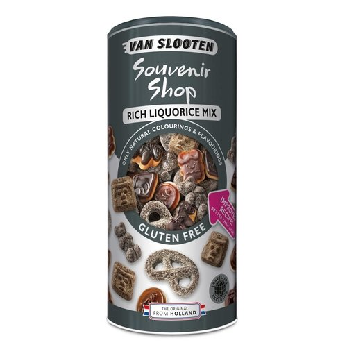 Van Slooten Souvenier Shop Licorice Assortment Canister 7 Oz