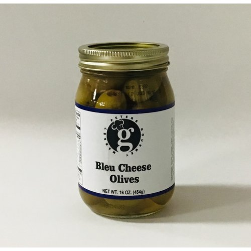 Peters Gourmet Foods PGM Blue Cheese Stuffed Olives 16 oz