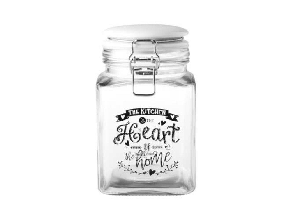 Dutch Rose Glass Storage Jar