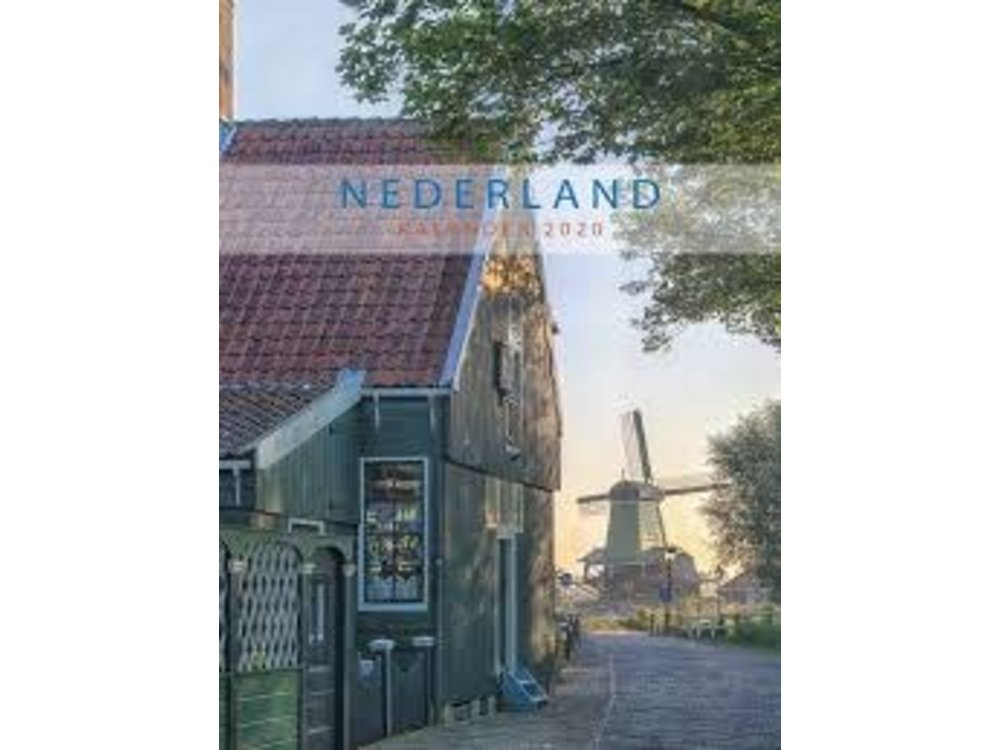 "Netherlands Monthly 2020 Note Calendar 13x17.5"""