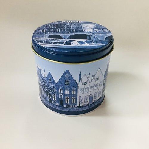 KM Stroopwafel tin Delft Amsterdam Blue design  8.8 oz