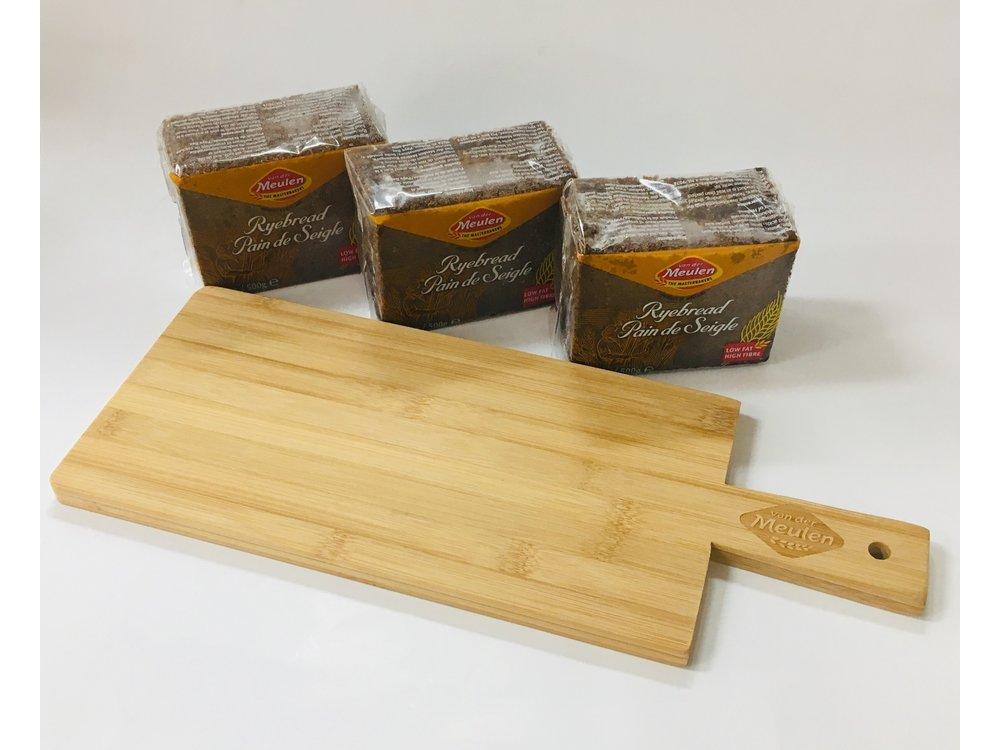 Vander Meulen Vander Meulen 3 pack Rye Bread with plank