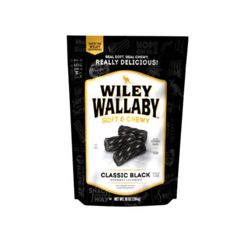 Willey Wallaby Wiley Wallaby Black Licorice 10oz Bag 10/cs