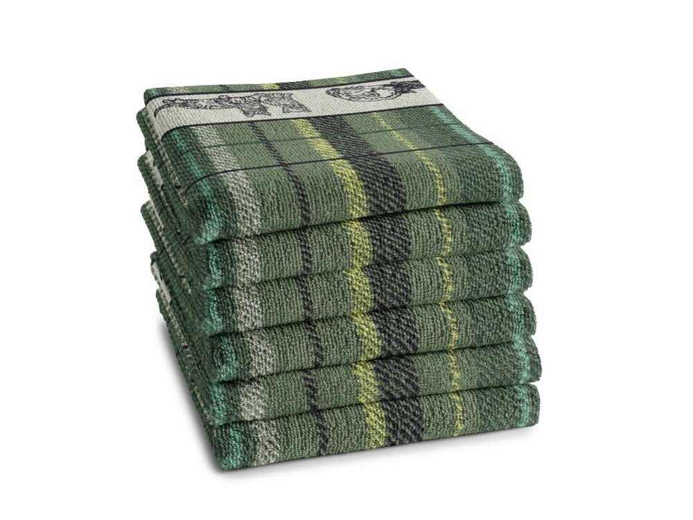 DDDDD DDDDD Family Cat Green Hand Towel