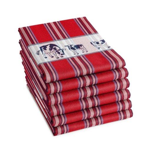 DDDDD DDDDD Friesian Red Tea Towel