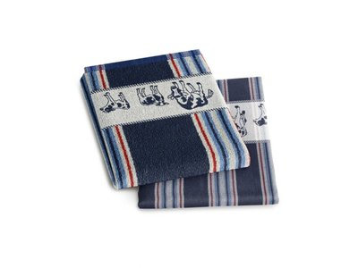 DDDDD DDDDD Friesian Blue Hand Towel