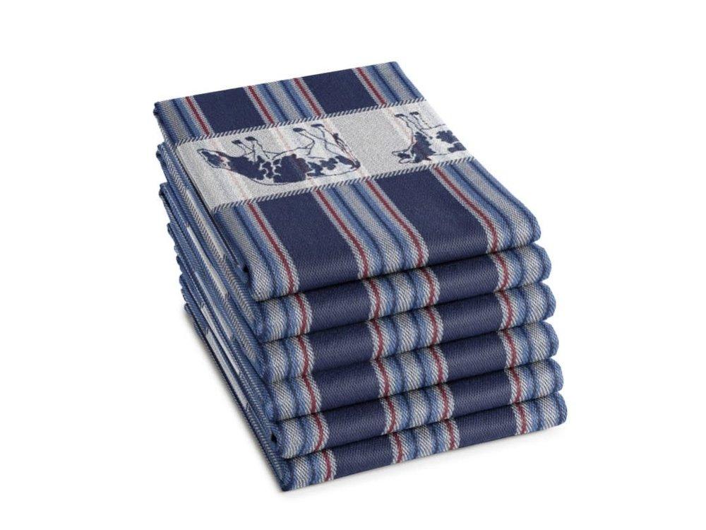 DDDDD DDDDD Friesian Blue Tea Towel