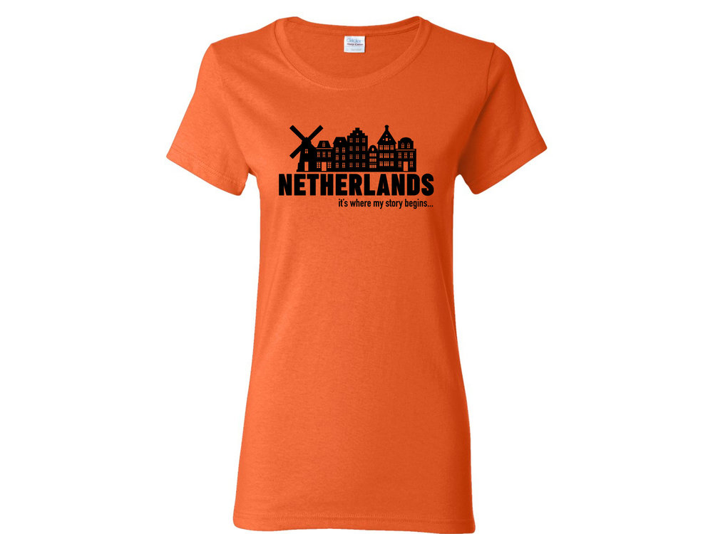 Peters Netherlands My Story Womens T Shirt Large