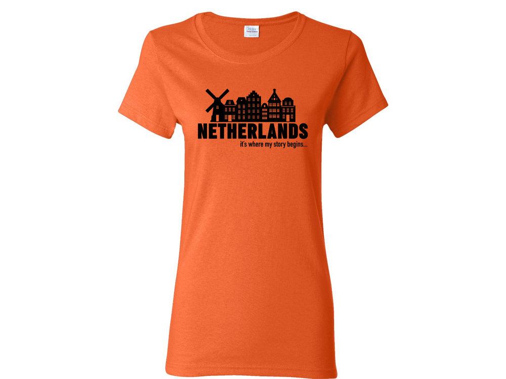 Peters Netherlands My Story Womens T Shirt Medium