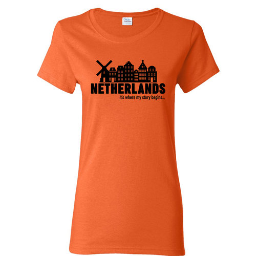 Peters Netherlands My Story Womens T Shirt Small