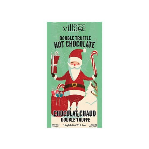 Gourmet du Village Retro Santa Double Truffle Cocoa