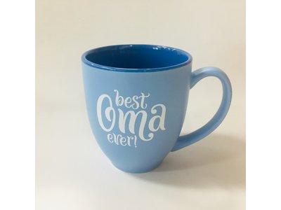 Best Oma Ever Coffee Mug 16 oz Light blue