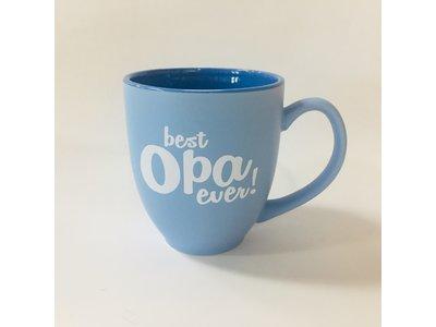 Best Opa Ever Coffee Mug 16 oz light blue