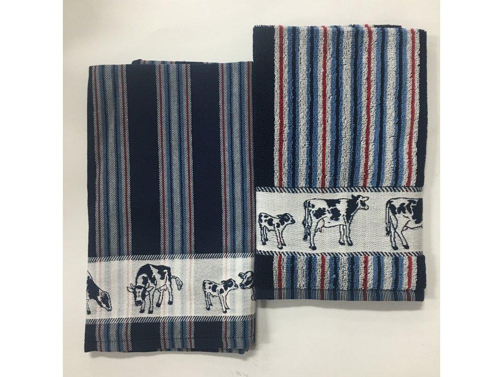 DDDDD DDDDD Friesian Blue Tea & Hand Towel Set
