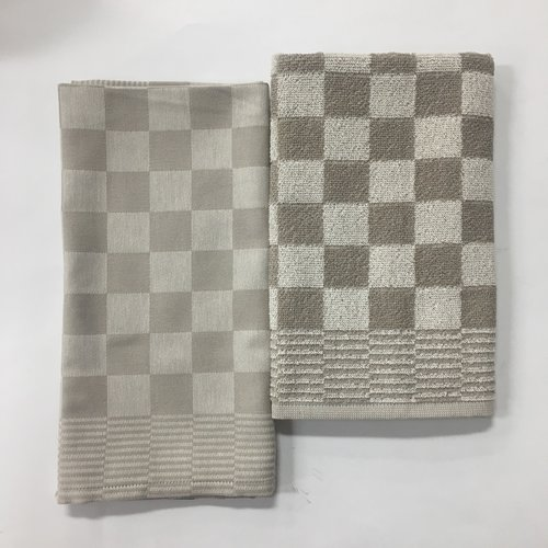 DDDDD DDDDD Dove Barbecue Taupe Tea & Hand Towel Set