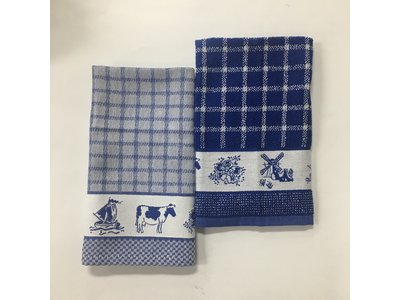 DDDDD DDDDD Dutchie Blue Tea & Hand Towel Set