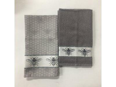 DDDDD DDDDD Honey Gray Tea & Hand Towel Set