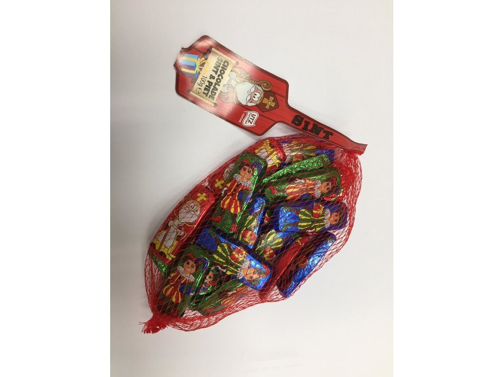 ABS Sweets Chocolate Sint & Piet Figures foil wrapped 3.5 oz bag