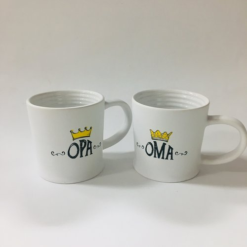 Oma & Opa set of mugs - One of each