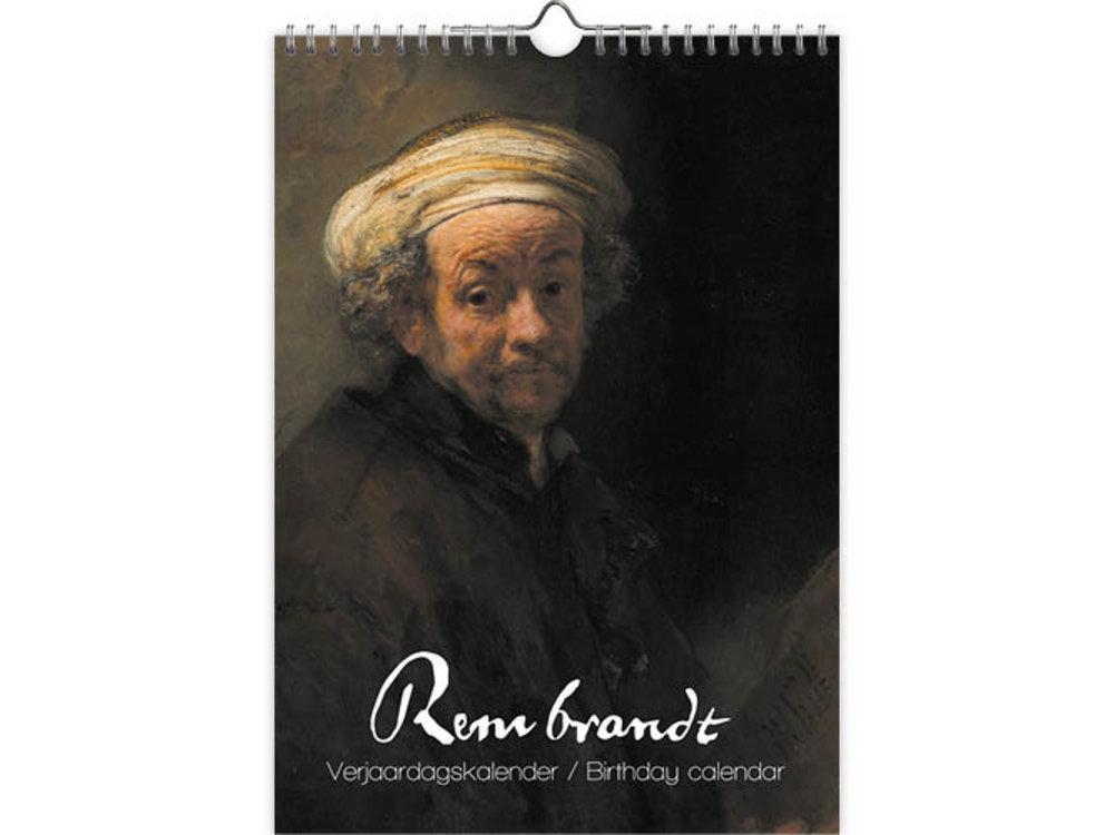 Rembrandt Birthday Calendar 8x12 inches