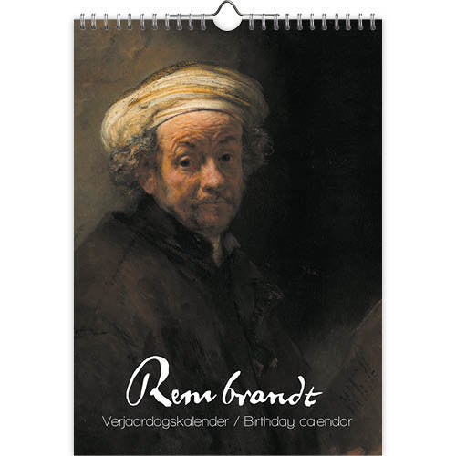 Rembrandt Birthday Calendar 8x12 inches