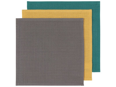 Dish Cloths Mallard,Curry,Eiffel 3 pk