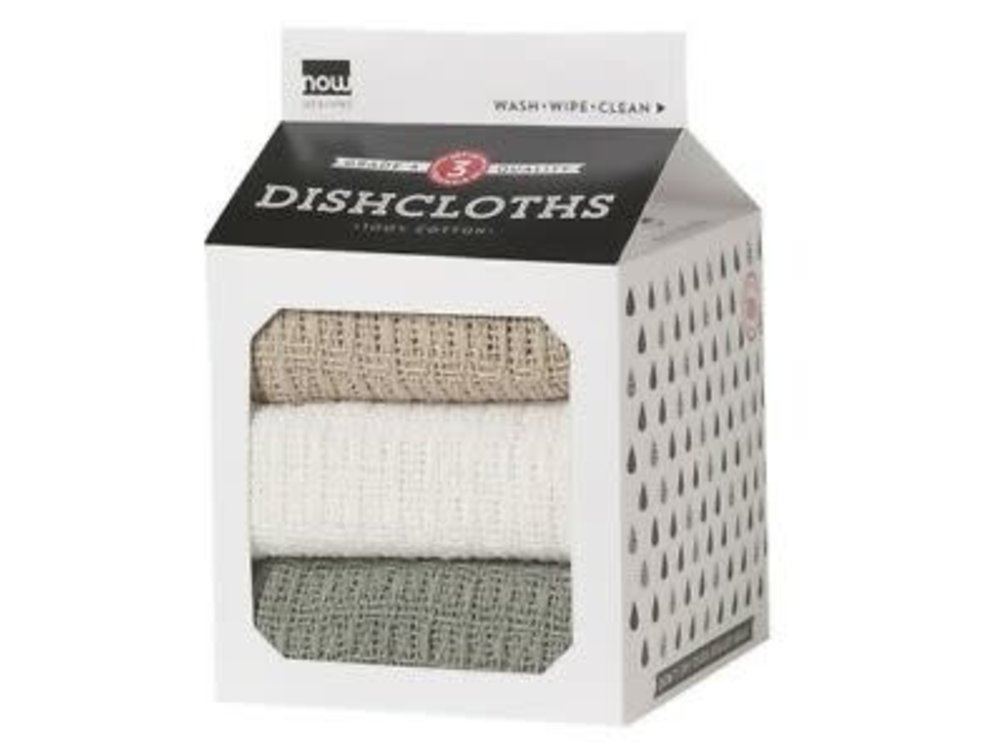 Dish Cloths London, White, Moonstruck 3pk