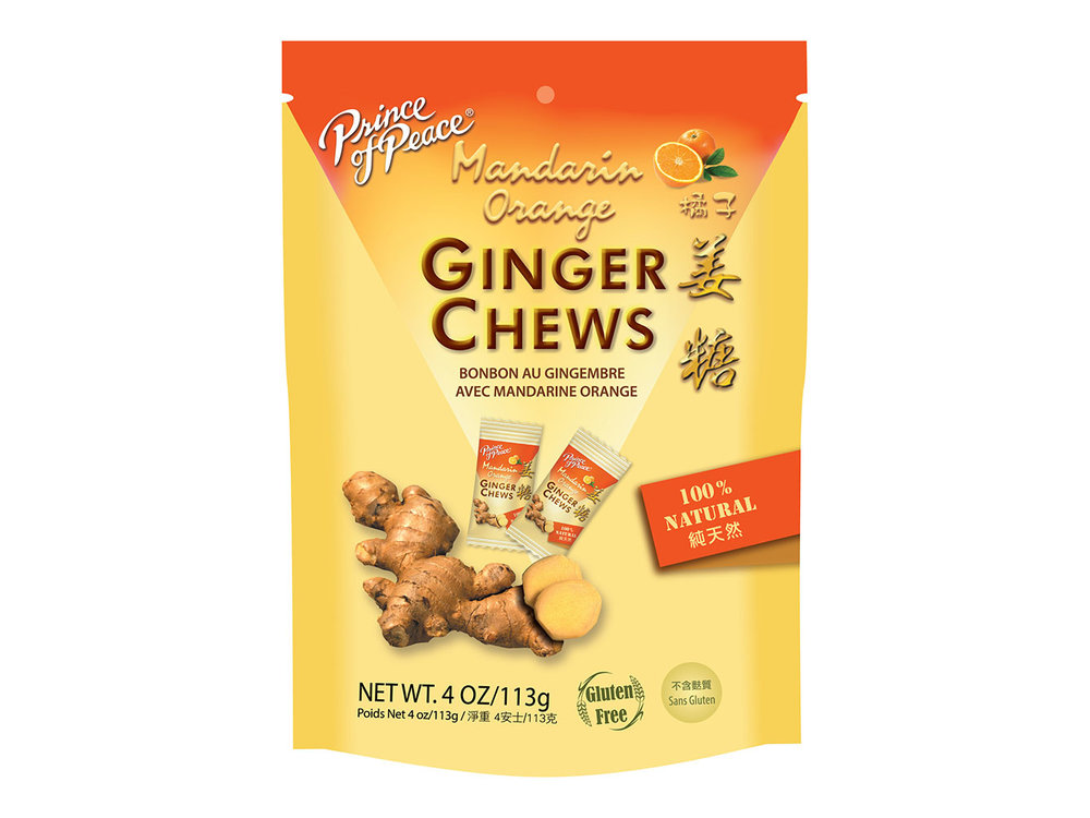 Prince of Peace Prince of Peace Orange Ginger Chews 4 oz